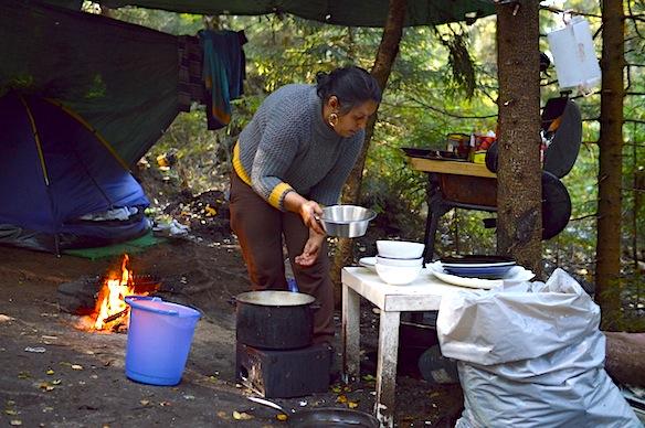 Oppvask i leiren