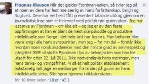 magnus klausen fjordman