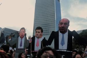 Meksikanske maktpersoner kritiseres og karikeres.