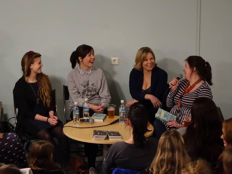 Jenny Jordahl, Madeleine Schultz, Marta Breen og Charlotte Myrbråten  i  Bergen Offentlige Bibliotek 6 mars.2015