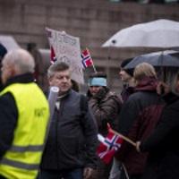 Soldiers of Odin Oslo deltok. Her representert ved Eino Kallio, Facebookgruppeadmin. Foto: Researchkollektivet