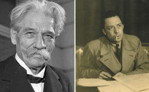 FOTO: Wikimedia commons Camus og Schweitzer
