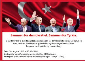 Plakat for demonstrasjonen.