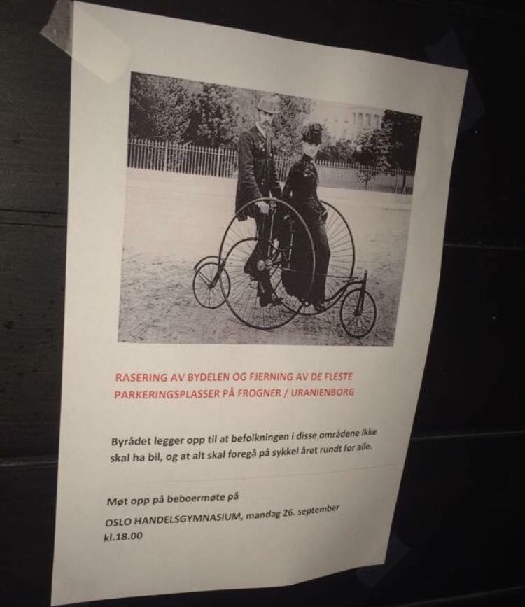 Her er invitasjonen til møtet Foto: Marianne Grøtte