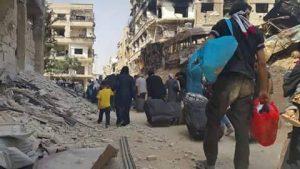 Fra Daraya, Syria. Bilde tatt av lokal aktivist.